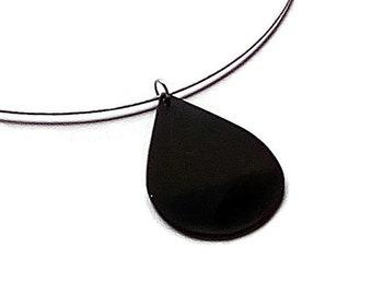 Vinyl Record jewellery, droplet pendant, upcycled vinyl pendant, recycled vinyl plate, LP, musical gift.