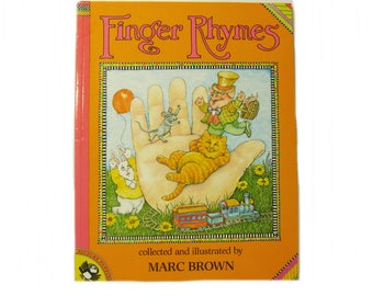 Finger Rhymes, Children's Picture Storybook 14 Fun Verses by Marc Brown Christmas Gift Idea