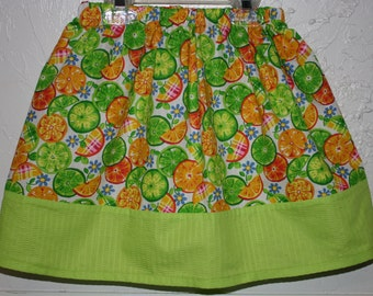 Clearance  Little Girls Skirt Made with Tutti Frutti Poly/Cotton blend Size 2 - 7
