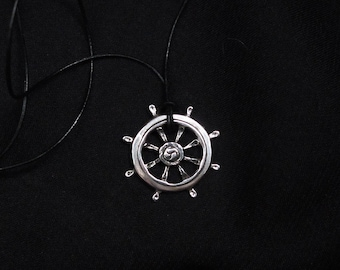 Dharma etsy sterling silver necklace dharma wheel silver pendant buddha pendant unisex aloadofball Gallery