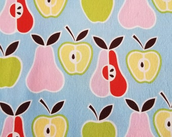 Cotton Fabric, Sewing Fabric, Quilting Fabric, Apples and Pears, 1.67 yards-Ready to Ship