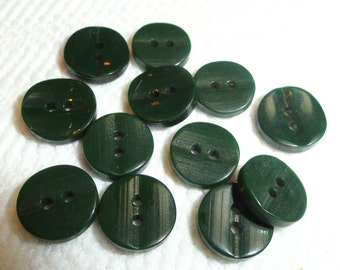 12 Spruce Vintage Buttons - Perfect for Baby or Doll Clothes 1/2 inch 13mm for Jewelry Beads Sewing Knitting