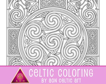 Wheel of Celtia - coloring page