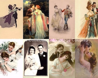Art Vintage Couples, Vintage Lovers, Collection of  200 images!