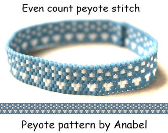 Easy Bracelet Pattern Even Count Peyote Pattern For Beginner