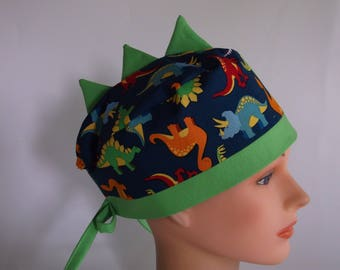 Dino Dynamite - Womens  or Men's surgical scrub cap, scrub hat, Nurse surgical hat, 41f