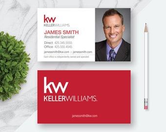KellerWilliams Business Card | Real Estate Business Card | Printable Custom Personalized Business Card | 3.5 x 2 | Printable Digital File