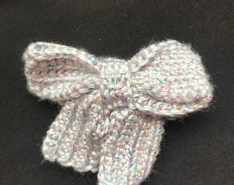 Gray Shimmer Hairbow