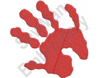 Hand Print - Machine Embroidery Design