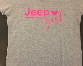 Grey jeep girl tshirt