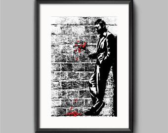 Banksy poster Print | Graffiti prints