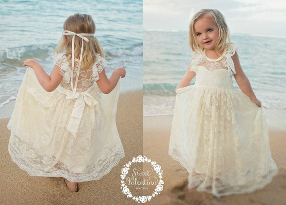 Can You Wear Cream To A Wedding: Lace Girl Dress Flower Girl Dress Flower Girl Lace Dresses