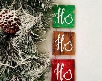 Rustic Christmas ho ho ho sign. Wooden Handmade Christmas sign. Christmas decorations. Christmas ornaments. Christmas gift. HO HO HO.