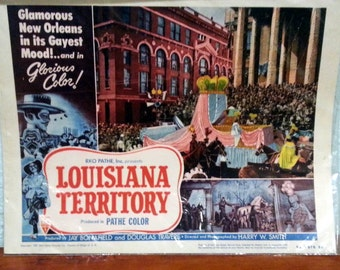 Lobby Card from the 1953 film Louisiana Territory