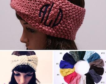 headbands for women, Ear warmers, boho headband, mbroidery, Head Wrap, knit headband, winter headband, womens headband, monogram, for women