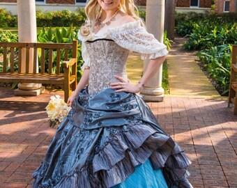 Cream Lace Chemise, Short Sleeve, Steampunk, Victorian, Renaissance, Medieval, Western, Dustpunk, Peasant Blouse, Pirate, Fairy, Shirt