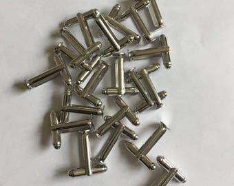 Steel Cufflink Blanks Findings Jewellery Making ..Pad size 6mm
