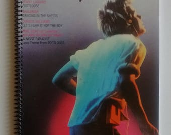 Footloose Spiral Notebook Hand Made from Authentic Vinyl Record Album Cover