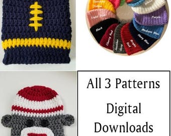 """NEW** All 3 Crochet Patterns Cast Sock/Toe Cover - Digital PDF Download. Make one or two as a """"Get well"""" gift!"""