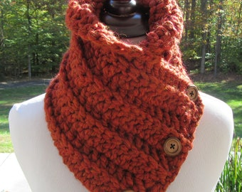 Chunky Scarf, Crochet Cowl, Boston Harbor Scarf, Winter Accessory, Gift for Her, Christmas Gift, Fall Accessory, Thanksgiving Gift