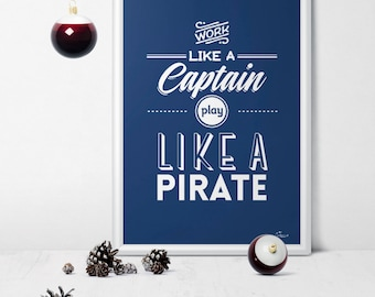 Captain - PRINTABLE/DOWNLOADABLE poster scandinavian style typoposter typographic wall decoration