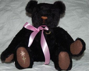 Handcrafted Black Teddy Bear