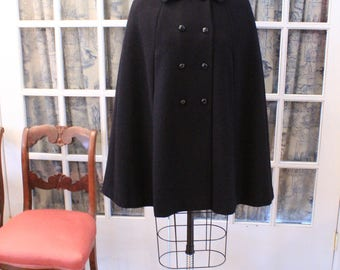 1950's Double Breasted Wool Opera Cape