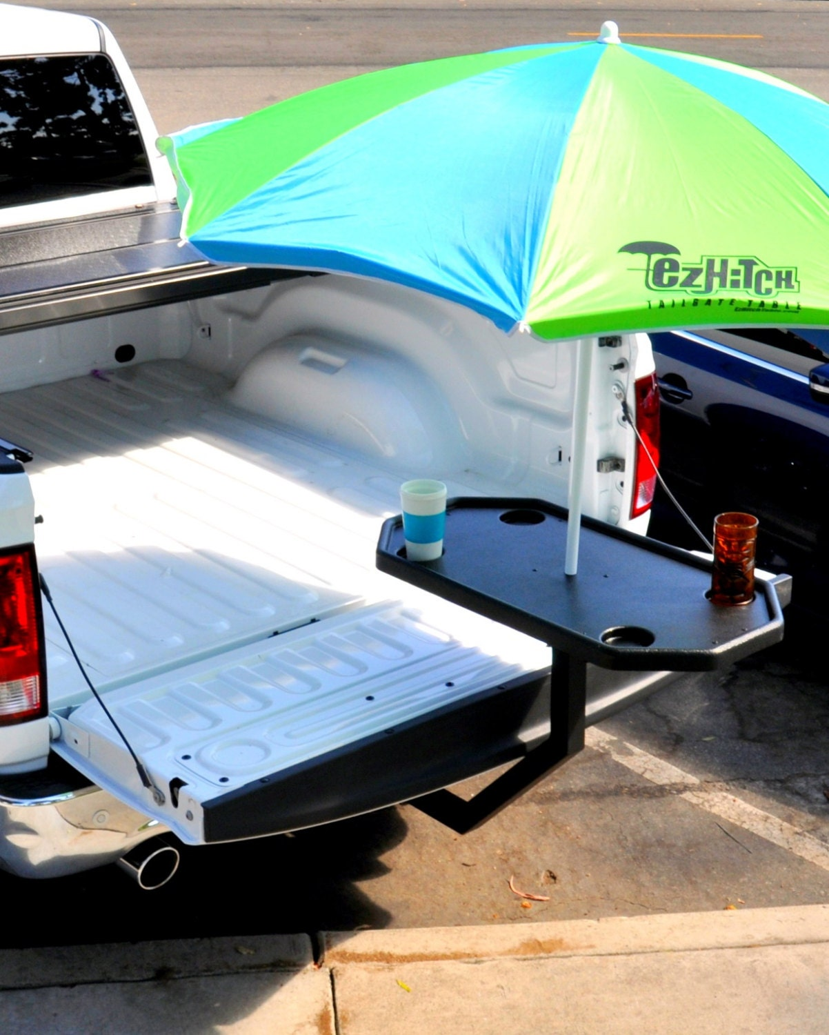 Ez hitch tailgate table the trailer hitch table that takes zoom arubaitofo Gallery
