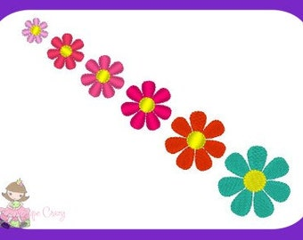 Flower add on embroidery design