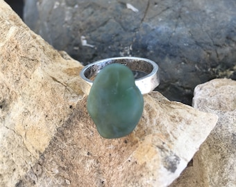Big Sur Jade Ring: Size 7
