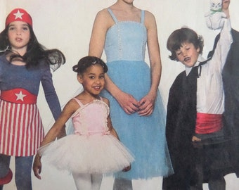 BALLERINA DRESS Costume Pattern • Simplicity 8222 • Childs 4-6 • Magicians Cape • Sewing Patterns • Childrens Costumes • WhiletheCatNaps