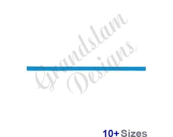 Straight Line - Machine Embroidery Design