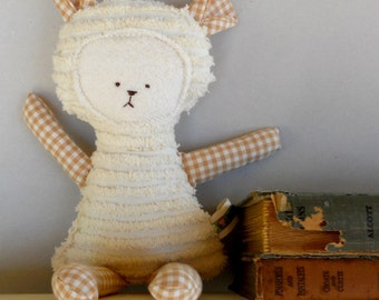 Teddy Bear Toy Soft Doll, Plush, Natural Eco Friendly FEATURED in Stuffed Magazine