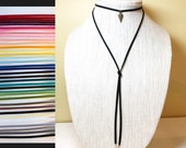 Lariat Necklace, Black Ch...