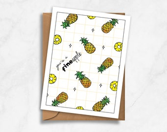 """You're a """"fineapple"""" – Love, Valentines, Anniversary Card"""
