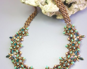 Tutorial - Astra necklace - Superduo beading Tutorial Necklace