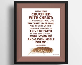 Galations 2:20 Feather