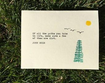 John Muir Greeting Card