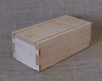 Maple Shaker Style Box ,Remote Control Storage or