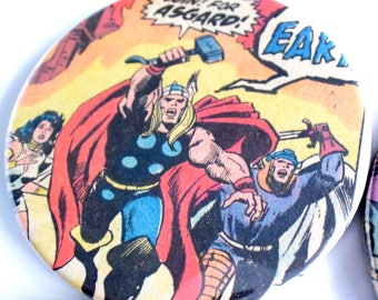 Thor // Recycled Vintage Comic // Set of 4