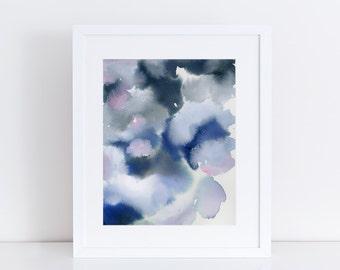 Modern Wall Art, Wall Decor, Abstract, Floral, print of original watercolor painting