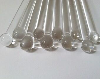 100 Swizzle Sticks, Glass Swizzle Sticks, Custom Glass Swizzle Sticks, Glass Sticks, 100 Borosilicate Sticks, Glass Rods, Swizzle Sticks