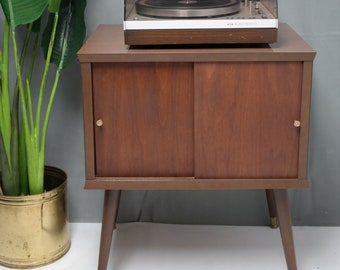 60s Mid Century Modern Record Player Storage Stand
