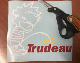 Decal stickers Trudeau piss pee