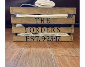 Personalized Family Crate