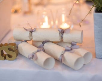 Handmade Wedding Favour Crackers ~ Rustic Wedding ~ Wedding Place Settings ~ Wedding Table Decor