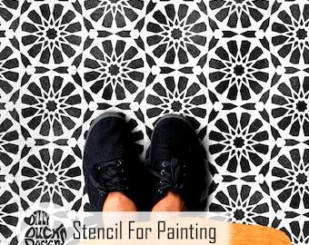 NADOR TILE STENCIL - Moroccan Hexagon Tile Wall Craft Furniture Floor Tile Stencil for Painting - NADO01