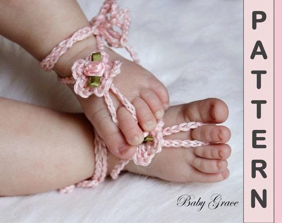 Crochet Sandals Pattern Baby Barefoot Sandals Easy Crochet