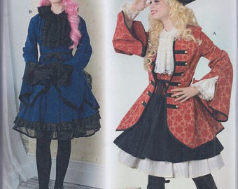 Simplicity 8285 Misses Steampunk Pirate Lolita CosPlay Costume UNCUT Sewing Pattern