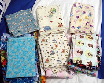 Fabric By The Pound, Children's Fabrics, Fabric Grab Bag, 1 Pound, Approx 3 yards, All Sizes & Colors